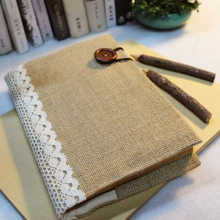 Hand-made book clothing notebook [life like a novel] deep coffee Ma (A5)