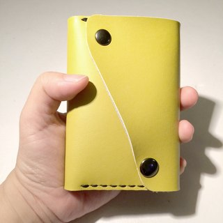 Leather purse all purpose for coin card and money notes Yellow color