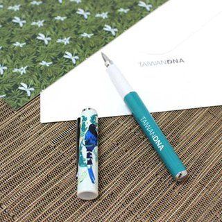 Taiwan DNA Steel Ball Pen - Taiwan Blue Dragonfly