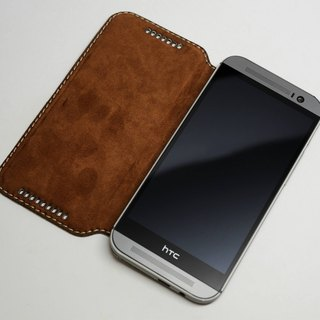 HTC M8 side flip leather protector / set