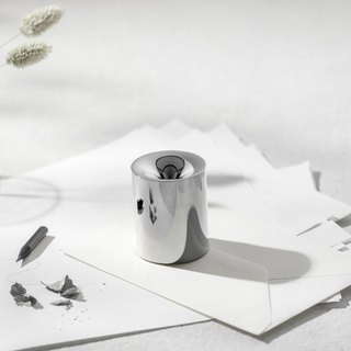 FUNNO -Pencil Sharpener& Paper Weight Silver