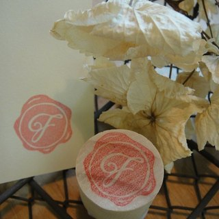 Hand-made rubber stamp - wax seal chapter (resolution 1 J)