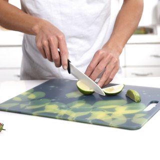 Antibacterial chopping block (M) Japan Queen leafy pattern