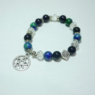 S & amp; A- frenzy blue gravel Phoenix Stone Bracelet - Beaded