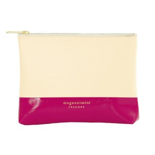 Japan [LABCLIP] Prendre Mini Pouch storage bag (small - zipper) pink