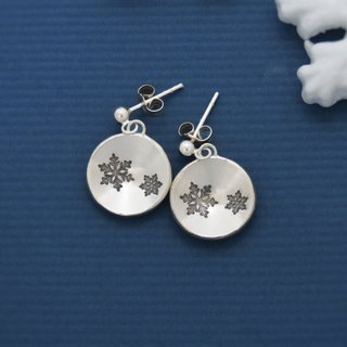 Round round Snowflakes (925 sterling silver earring) - C percent handmade jewelry