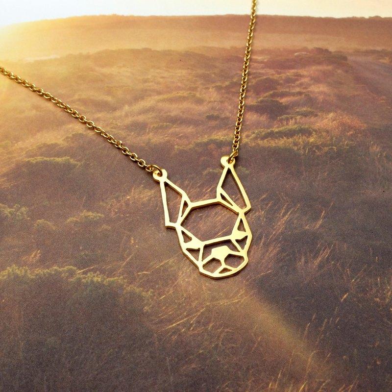 Boston Terrier Geometric Dog Necklace Pet Jewelry Gifts Birthday