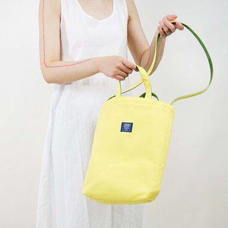 ::Bangstree:: two-colored reversible canvas bag -Yellow+Green