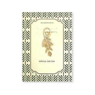 bookfriends-18K gold natural modeling bookmarks - olive leaves, BZC24210