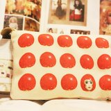 Lily Lily原創 復古蘑菇娃娃趣味短款零錢包化妝包筆袋