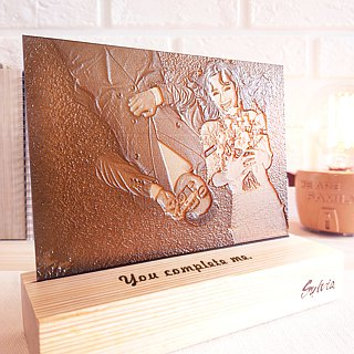 [Customized Commemorative Gift] Small / Customized Wooden Base Photo Engraving Photo Wedding Valentine's Day