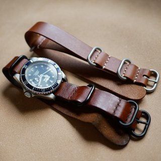 leather nato strap, zulu strap