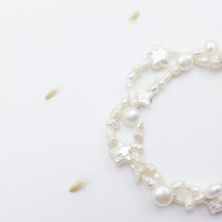 [Lost and find more usage] starfish Twisted freshwater pearl bracelet