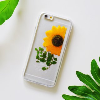Pressed Flowers Phone Cases - Sun Flower Collection (Simple) for iphone 5/5s/SE/6/6s/6 plus/6s plus/7/7plus/Samsung S4/S5/S6/S6Edge/S7/S7Edge/Note3/Note4/Note5