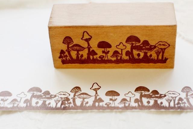 【好評加售】蘑菇園 木頭印章