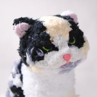 Pets avatar 13 ~ 15cm [feiwa Fei handmade baby doll pet cat flower] (welcome to build your cat)