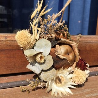 Christmas wreath dried flower corsage ornaments - Mini Forest