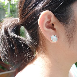 Glorikami Blue Cauliflowers earrings
