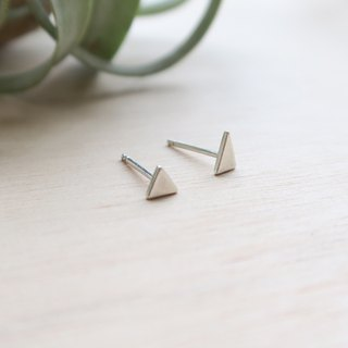925 Silver asymmetrical Triangular earrings-Sold as a Pair