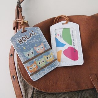 Multifunction card sleeve key ring -Hola! Owl