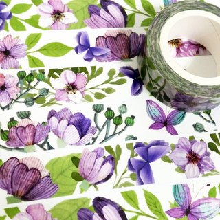 Masking Tape Purple Butterfly Shadows On