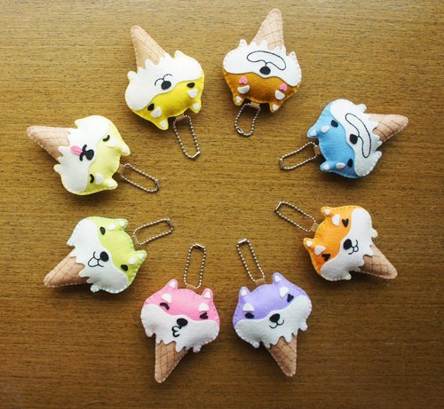 [Mangogirl] Summer Rhapsody. Shiba hand-made ice cream Charm (eight colors)