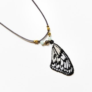 Embroidery Wings Necklace / Paper Kite Butterfly