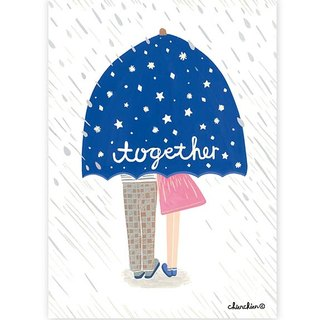 Better Together Illustration Postcard / Card