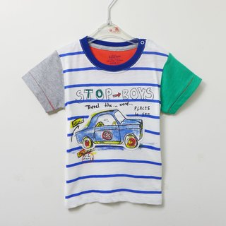 Striped car cotton blouse