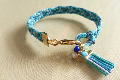~ Fashion national wind ~ color wax rope braided bracelet - Mediterranean