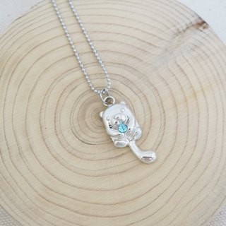 Mini Otters 925 Sterling Silver Necklace, Handmade Necklace