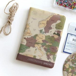 Indigo- World Map Passport Set v1 - Retro, IDG02787