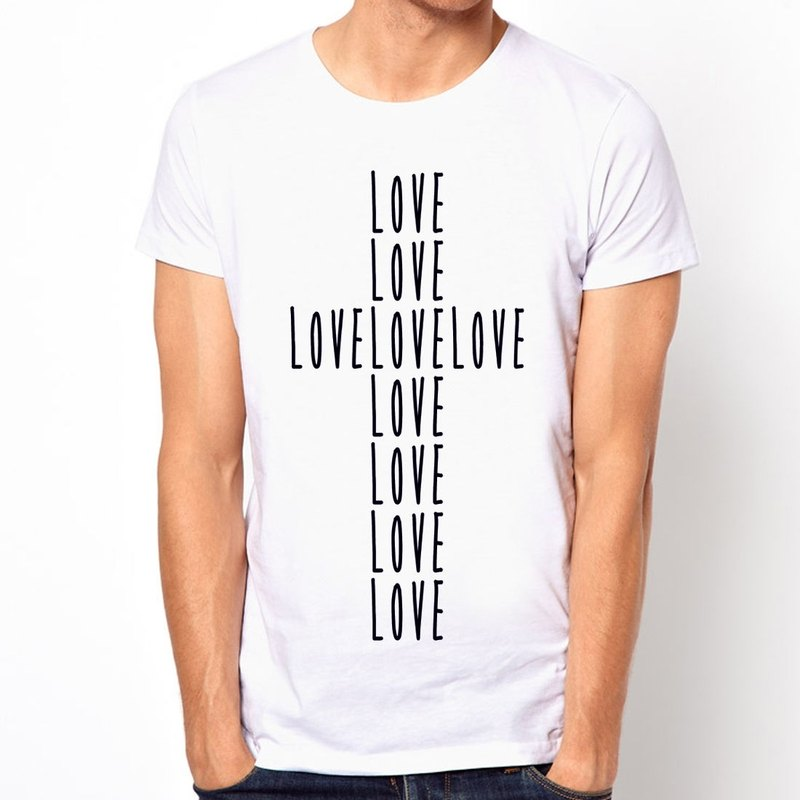 LOVE CROSS T-shirt -2 color cross love the design character of Jesus Christ of Our Lady of religion
