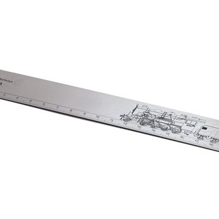 TRA stainless steel ruler - steam train (DT580)