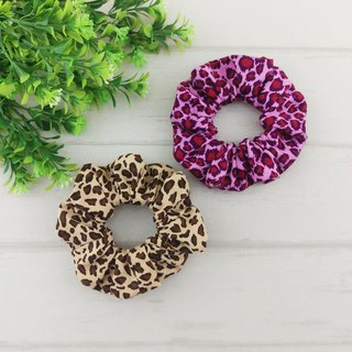 Fashion leopard, tiger pattern, zebra pattern - a total of 5 models. Handmade donuts hair bundle / large intestine circle