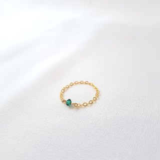Small crystal chain ring (colored)