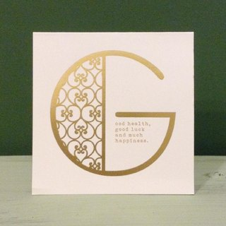 Bronzing letter card envelope sticker group -G