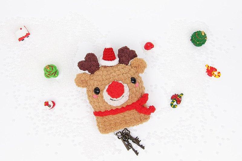 紅鼻麋鹿-鑰匙包-聖誕節限定