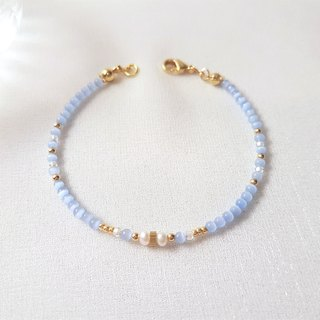 Atlantis ‧ Opal pearl Brass beaded bracelet