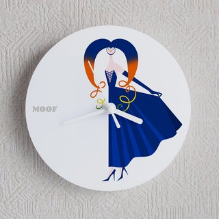 Muff Wall clock illustration Wall clock Humorous simple design witch