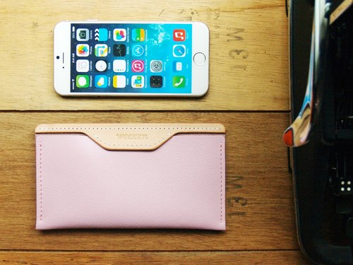 [ weekenlife ] - Leather Phone Case for iPhone 6/7/8 ( Custom Name ) - Pink Ballet
