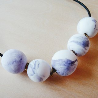 Clay Marble Lilac Necklace