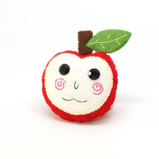 Big Apple Keyring -You are the apple of my eye!