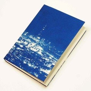 Handmade cyanotype Notebook - Bi-rock night