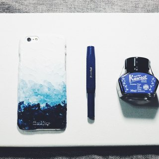 Gradient series ll Midnigt Blue midnight blue ll hand-painted oil painting phone case