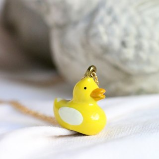 Yellow duckling necklace