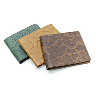 Filter017 embossed leather short clip - Land Of Lost Camo Wallet Lost to camouflage