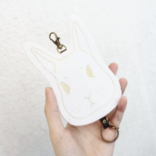 Animal- animal series - wool felt Wallets Key sets / wool felt key sets &lt; <White Rabbit 低調白兔> &gt; Wool felt gogoro key sets