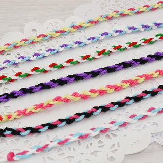 噗妃 - - pure hand-woven lucky bracelet surf foot ring foot rope U (cotton models)