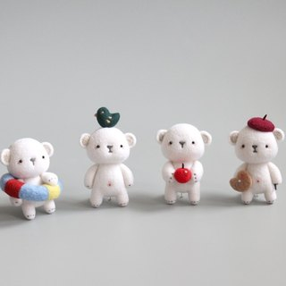 Magic Forest - super adorable polar bear wool felt ornaments